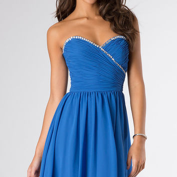 Short Strapless Sweetheart Mori Lee Dress