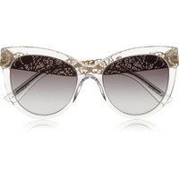 Dolce & Gabbana - Cat eye acetate sunglasses