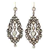 1STDIBS.COM Jewelry & Watches - GEORGIAN Diamond Drop Earrings - Waldmann Van Lennep