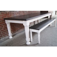 Furniture :: Kitchen & Dining :: Dining Tables :: Farmhouse Table and 2 Nesting Benches