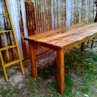 Rustic Dining Table by handmadebetty on Etsy