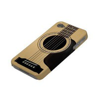 Acoustic Guitar Case-mate Iphone 4 Case from Zazzle.com