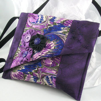 Purple Violet and Radiant Orchid Quilted Purse