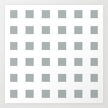 Cross Squares Grey & White Art Print by BeautifulHomes | Society6