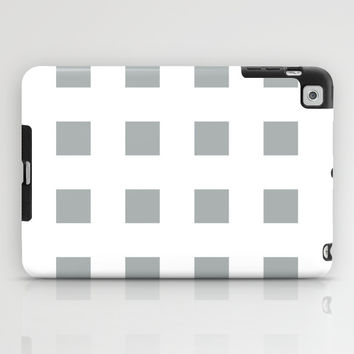 Cross Squares Grey & White iPad Case by BeautifulHomes | Society6