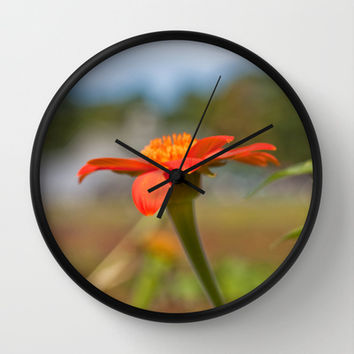 September Flowers Wall Clock by Legends of Darkness Photography