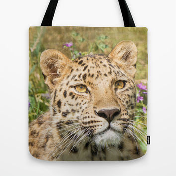 LEOPARD LOVE Tote Bag by Catspaws | Society6