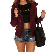 Burgundy Cozy Fleece Jacket
