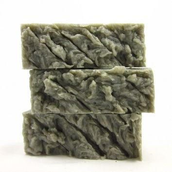 Mud Suds Facial Soap Bar with Dead Sea Mud Charcoal Tea Tree Oil