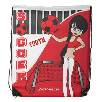 Youth Soccer Personalize Backpacks -Red