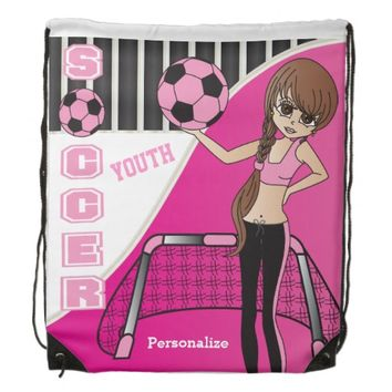 Youth Soccer Personalize Backpacks -Pink