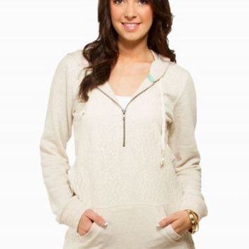 CROCHET TUNIC ZIP FLEECE
