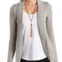 Open Front Cocoon Cardigan Sweater by Charlotte Russe - Ivory