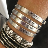 I Heart My Sorority Cuff - Bulk