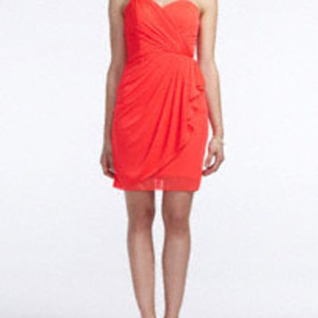 Strapless Jersey Dress with Three Strap Cut-Out