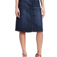 KUT from the Kloth Women`s 5 Pocket A-Line Denim Skirt