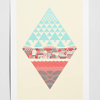 Waterfrontier Art Print