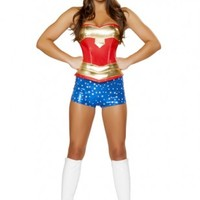 3pc Heroine Hottie Costume @ Amiclubwear costume Online Store,sexy costume,women's costume,christmas costumes,adult christmas costumes,santa claus costumes,fancy dress costumes,halloween costumes,halloween costume ideas,pirate costume,dance costume,costu
