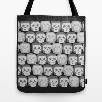 Boo - Skulls Pattern Tote Bag by All Is One