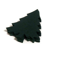 Christmas tree die cuts - woodland wedding escort cards by partyparts - 25 pieces