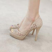 Sexy fashion hollow waterproof high-heeled shoes fish head high heels SD00018 - Prices & Buy at ShopSimple.com