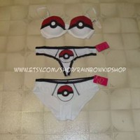 Pokeball Push-up Bra and pantie set Victoria&#x27;s Secret | eBay UK