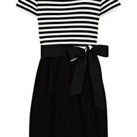 DKNY | Striped cotton-blend dress | NET-A-PORTER.COM