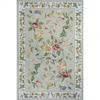 Momeni Spencer 16 Sage Country/Floral Rug - SP-16-Sage - Wool Rugs - Area Rugs by Material - Area Rugs
