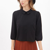 Boxy Split Collar Shirt