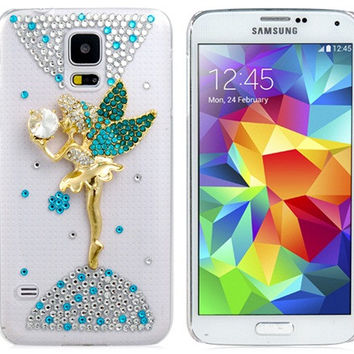 Crystal Angel Plastic Case for Samsung Galaxy S5