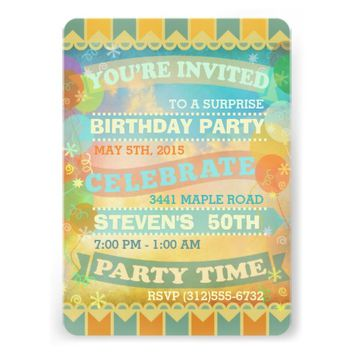 Custom Vintage Circus Style Party Invitations