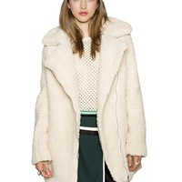 Ivory Shearling Coat