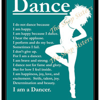Inspirational Jazz Modern Dancer Girl by TheShopSisters on Etsy