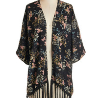 ModCloth Boho Mid-length Short Sleeves Touch of Tranquil Jacket