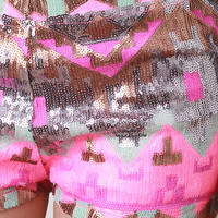 Pattern Sequin Shorts