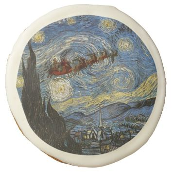 Starry Christmas Night Cookie
