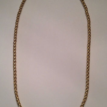 Vintage Napier Woven Gold Necklace Costume Jewelry