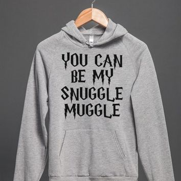 You Can Be My Snuggle Muggle-Unisex Heather Grey Hoodie