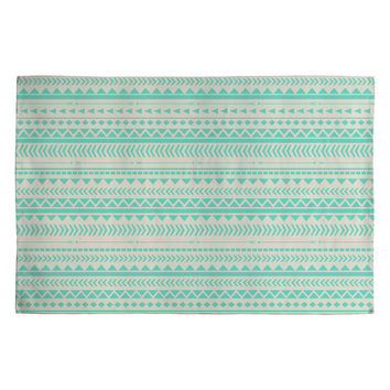 Allyson Johnson Mint Tribal Woven Rug