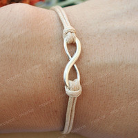 Karmainfinity bracelet Khaki string karma bracelet for by mosnos