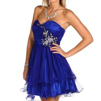 Nessie- Royal Tulle Homecoming Dress