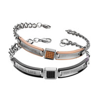 Gullei Trustmart : I shall love you forever engraved High quality swiss steel bracelet set [GTMCBLT139] - $59.00 - Couple Gifts, Cool USB Drives, Stylish iPad/iPod/iPhone Cases & Home Decor Ideas