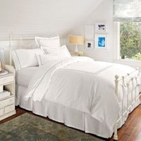 Pearl Embroidered Duvet Cover, Full/Queen, Gray Mist