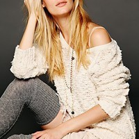 Free People Shaggy Knit Pullover