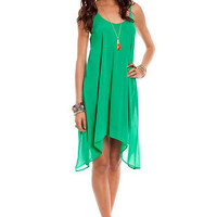 High Tide Dress in Emerald :: tobi