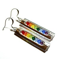 Tilleyjewels Rainbow in a Cage Earrings | tilleyjewels - Jewelry on ArtFire
