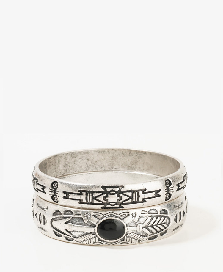 Tribal Pattern Bangle Set