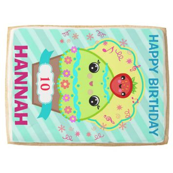 Custom Kawaii Cupcake Jumbo Shortbread Cookie