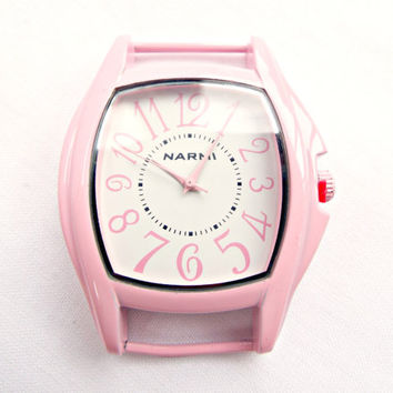 Baby Pink Large Square Watch Face, Make Your Own Watch, Solid Bar Large Face Pink Watch, UK Supplier, Beadsmith Watch Face, Beaded Watch