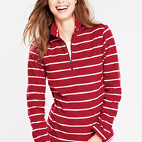 Women's Pattern ThermaCheck 100 Half-zip from Lands' End